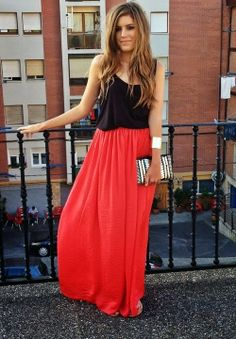 FASHION AND STYLE: Black & Red