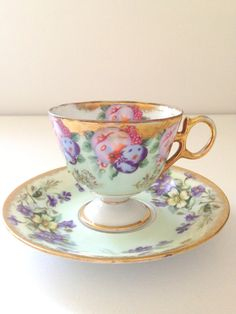 Vintage Royal Sealy China Fine Porcelain Footed by MariasFarmhouse, $28.00