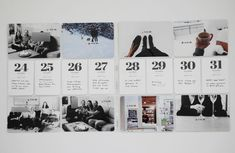 Love the simplicity of documenting 8 days with 8 photos and numbered journal cards down the middle.
