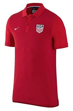 Nike United States Slim Authentic Soccer Polo (Large) Red...