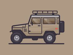 Land Cruiser by Scott Tusk | dribbble