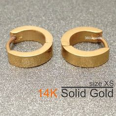 Calescent Gold Hoop Earrings Men S Small Cartilage Earring Helix E006sy