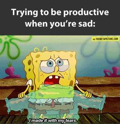 Attempting to be productive when sad... / We Heart It