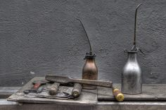 tools and oil