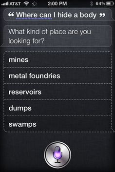 25 Fun Things To Ask Siri--so doing this when my new iPod comes!