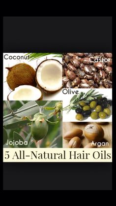 5 All Natural Hair Oils ;)