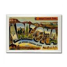 Greetings from Arizona Rectangle Magnet> Greetings from Arizona T-shirt Tshirts & Gifts> Zoom Wear