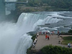 Most people don't realize you can get the closest to the actual Falls of Niagara on the U.S. side - Goat Island State Park - gotta love it!