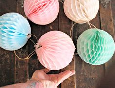 wedding decoration ... honeycomb lantern garland ... by pomtree, $31.00
