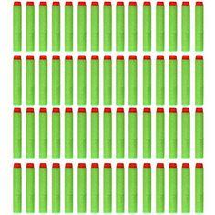 Soft Foam Gun Refill Bullet Darts Round Head Blasters 60pcs Kids Toy For Nerf N-Strike White: Amazon.co.uk: Toys & Games