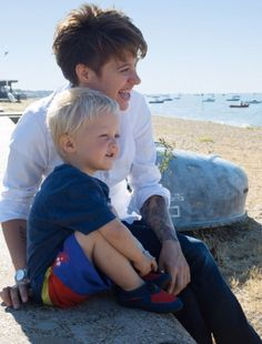 Good food: Food blogger Jack Monroe with her son Johnny