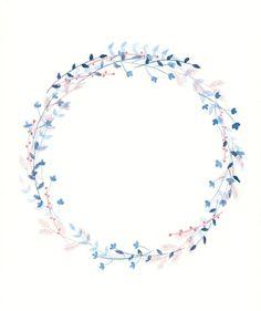 Winter Wreath, by Paloma Navio Following Botanical Watercolour Wreath Tutorial here:  https://thepostmansknock.com/botanical-watercolor-wreath-tutorial/