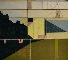 "Drew Tyndell, Green House #2, Acrylic on Wood Blocks, 17""x15"".....$650"