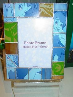 """Tinker Bell Stained Glass Metal 10"""" Picture Frame Disney Parks Peter Pan #DisneyParksExclusive #PictureFrames"""