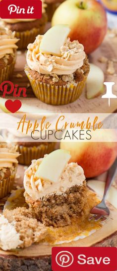 DIY Apple Crumble Cupcakes - Apple Crumble Cupcakes are soft apple filled and topped with deliciously smooth custard frosting and crunchy crumbles.  Ingredients  Vegetarian  Produce  6 thin slices Apple  2 Apples medium sized  Refrigerated  2 Eggs large  Breakfast Foods   cup Rolled oats  Condiments  1 stick (113) unsalted butter or margarine unsalted   cup Custard powder  Baking & Spices  1 tsp Baking powder  1 tsp Bicarbonate of soda/baking soda   cup Brown sugar light   cup Castor sugar…