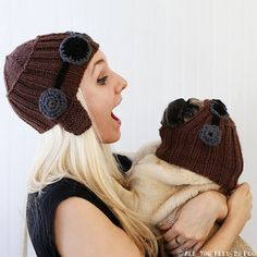 2014 PREORDER  Aviator Helmet Set  Dog Hat by AllYouNeedIsPugShop, $64.00