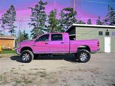 Pink dodge cummins 3500