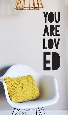 You Are Loved WALL DECAL by TheLovelyWall on Etsy