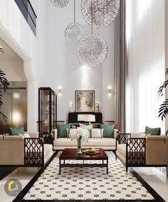 Indochine Style on Behance Decor Home Living Room, Living Room Designs, Sofa Design, Furniture Design, Design Design, Plywood Furniture, Home Room Design, House Design, Art Tropical
