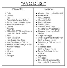 """Arbonne's 30 Days to Healthy Living """"AVOID LIST"""""""