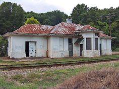 Train Depot, Ozark, Alabama. Preservation in the works.