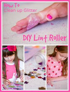 How to clean up glitter - DIY Lint Roller