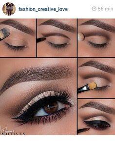 Profi Make-Up Tutorial! - Makeup Tips , Profi Make-Up Tutorial! Profi Make-Up Tutorial! Eye Makeup Steps, Natural Eye Makeup, Smokey Eye Makeup, Makeup For Brown Eyes, Skin Makeup, Eyeshadow Makeup, Smoky Eye, Makeup Brushes, Eyebrow Makeup