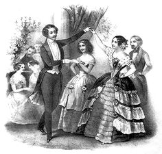 """""""The master of the house should see that all the ladies dance; he should take notice, particularly of those who seem to serve as drapery to the walls of the ball-room."""""""