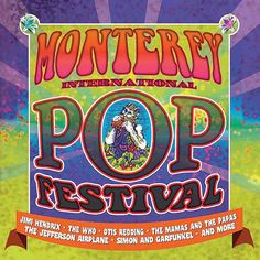 Another type of ad promoted the new music and festivals of the This ad for the legendary Monterey Pop Festival reflects aspects of hippie culture that were seen at the event through its use of funky colors and psychedelic art style. Monterey Pop Festival, Billie Holiday, Rock Posters, Concert Posters, Music Posters, Rock N Roll, Pop P, Otis Redding, Psychedelic Pattern