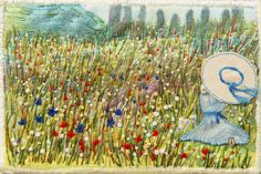 The French Republic. Beautifully stitched postcards by the talented East Surrey Branch of the Embroiderers' Guild. http://www.embroiderersguild.com