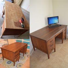 Reproduction Kneehole Desk Delicacies Loved By All Desks & Secretaries Antiques