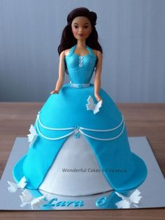 Blue Barbie Cake By vanessa1982 on CakeCentral.com