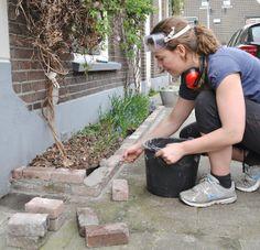 geveltuin laten metselen, Utrecht, creatieve klusvrouw Miranda Maakt het Mooi Utrecht