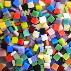 8mm - Assorted (Multi-Color) - Mosaic Kismet Tile - Matte Recycled Mosaic Glass These glass tiles are sold in 3 different quantities: 2oz - (approximately 90 pieces) 4oz - (approximately 180 pieces) 8