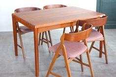 画像1: 北欧家具/ヴィンテージ/デンマーク製 /Henning Kjærnulf/ダイニングテーブル/チーク