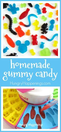 It's so easy to make homemade gummy candy. See how you can make gummy bears, worms, fish, Mickey Mouse, Snoopy and more.
