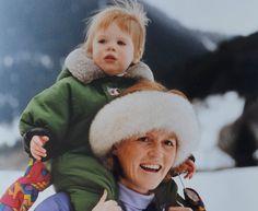 Sarah Ferguson Duchess of York & Princess Eugenie 1992