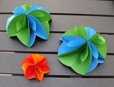 TUTORIAL - handmade flowers, or put 2 of them together to make a hanging sphere decoration