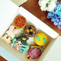 moon cake festival theme macaron