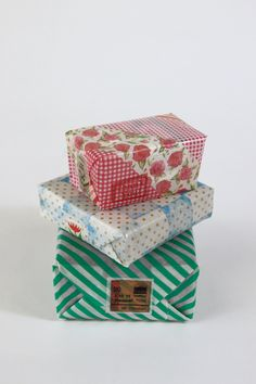 washi tape gift wrap