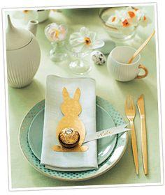 Tischdekoration für Ostern basteln mit Ferrero Rocher