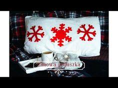 ❄❄ Zimowa poduszka❄dekoracja❄/Snowflake Pillow ❄ Snowflakes, Bed Pillows, Make It Yourself, Pillows, Snow Flakes