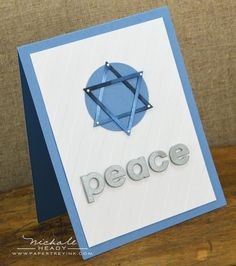 Peace Card by Nichole Heady for Papertrey Ink (October 2012)