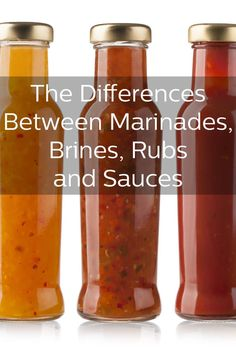 The Differences Between Marinades, Bones, Rubs and Sauces