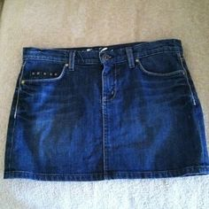 ❤Denim Juicy Couture skirt❤ ***Reduced****. Cute denim skirt mini just in time for summer. Has stud detail around pockets in back and on one pocket in the front. Worn once. Juicy Couture Skirts