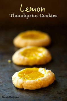 Reduce your carbon footprint with these Vegan Lemon Thumbprint Cookies | NamelyMarly.com