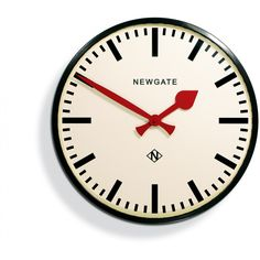 The Putney Large Black Station Wall Clock A large railway station wall clock with a gloss black finish. A deep straight-cut metal case and a bold marker dial contrast with red metal hands to make the Putney one of Newgate's most iconic designs. Chrome Wall Clock, Metal Clock, Vases, Best Wall Clocks, Kitchen Clocks, Bathroom Clocks, Wall Clock Design, Desk Clock, Miniatures