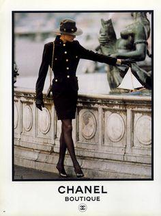Chanel - Boutique 1987 Fashion Photography, Inès De La Fressange