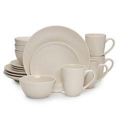 Mikasa Swirl Square White 16-Piece Dinnerware Set | Dinnerware ...