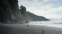 Homer, Alaska  Surfer Keith Malloy finds solitude up north near Homer, AK, where he enjoys the entire coastline to himself to prepare to surf.